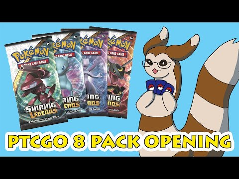 PTCGO 8 Pack Opening [Shining Legends]