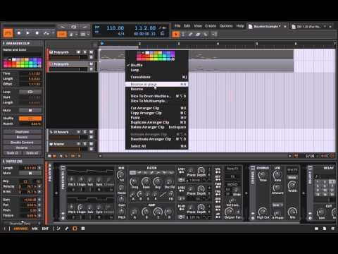 Bitwig Studio - Bouncing Instrument Clips to Audio Pre-Mixing