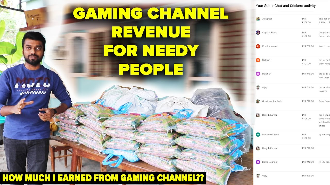 GIVING !! MY GAMING CHANNEL's FULL REVENUE TO THE NEEDY !! 100kgs Rice & Provisions for 20 Families