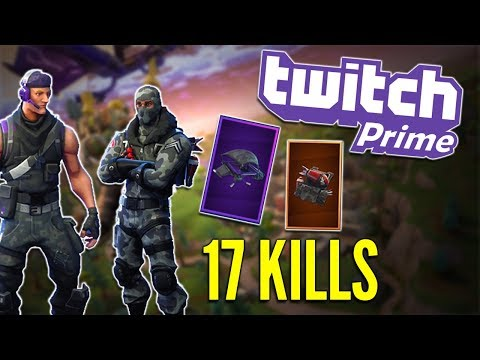 Fortnite Twitch Prime Loot - 17 Kill Gameplay #LightWork