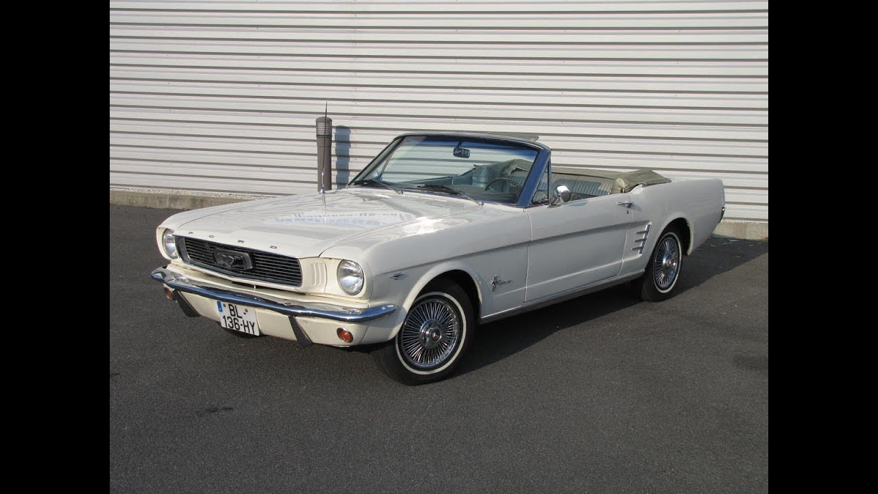 ford mustang cabriolet 1966 youtube. Black Bedroom Furniture Sets. Home Design Ideas