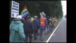 Protesters block nuclear Trident base with missile