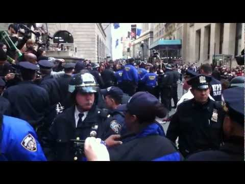 NYPD Arrest Protesters At Wall Street (April 13, 2012)