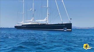 Luxury Mega sailing yacht SEA EAGLE II three-masted schooner built by Royal Huisman 81m/266ft