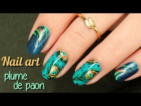 nail art plume de paon youtube. Black Bedroom Furniture Sets. Home Design Ideas