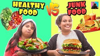 JUNK FOOD vs HOME FOOD Challenge | #Funnyvideo Healthy Eating Moral Story l Ayu And Anu Twin Sisters