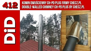 412. Komin dwuścienny CH-PD Plus firmy Checz.pl / Double-walled chimney CH-PD Plus by Checz.pl