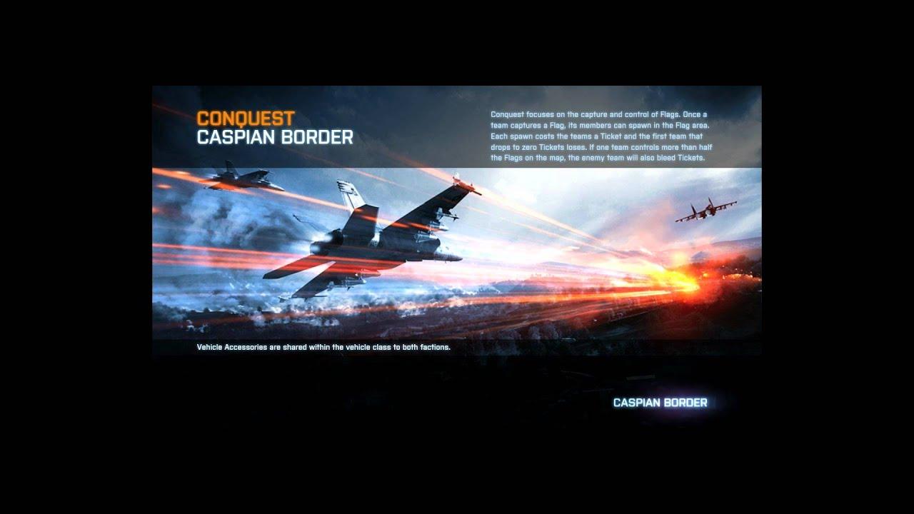 Battlefield 3: Caspian Border Loading Screen