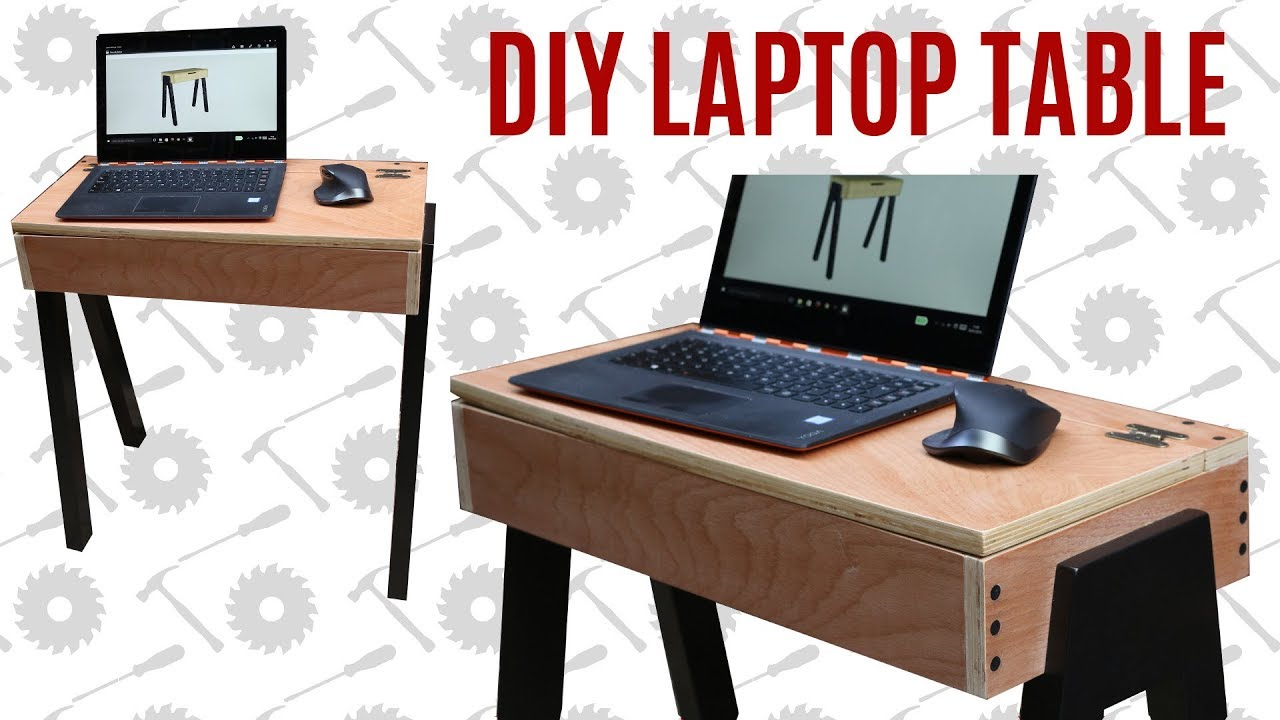 Diy Laptop Table Using Limited Tools