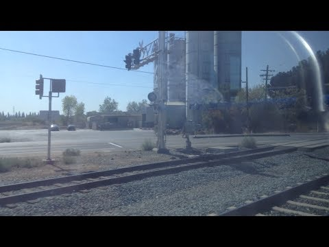 Riding Sacramento Light Rail Gold Line Inbound Collage Greens to 48th Street
