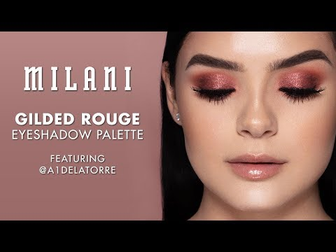 Gilded Rouge Eyeshadow Palette   MILANI feat. @a1delatorre