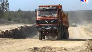 Mercedes-Benz SK Dump Trucks / Kipper in Action, Germany 2007.