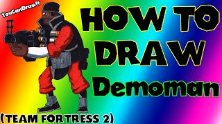 How To Draw Demoman from Team Fortress 2 ✎ YouCanDrawIt ツ 1080p HD