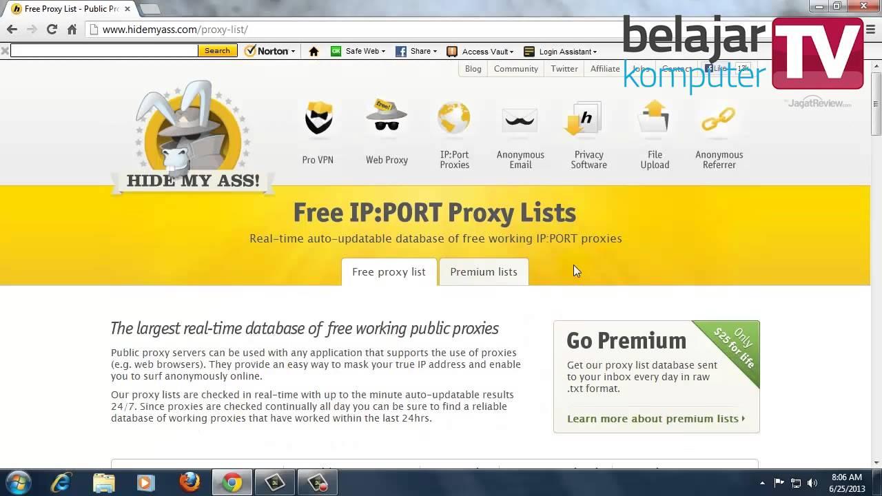 Cara menggunakan free web proxy