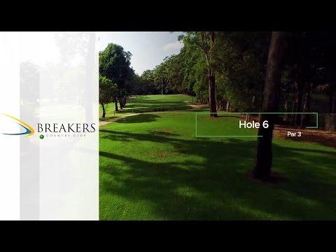 Breakers Country Club | Hole 6 | Fairway Flyovers Australia