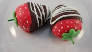 Chocolate Dipped Strawberry Cakepops - With Yoyomax12