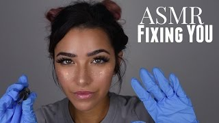 ASMR Fixing You Whispered Roleplay (Gloves sounds, Face Brushing, Scratching sounds and +) thumbnail