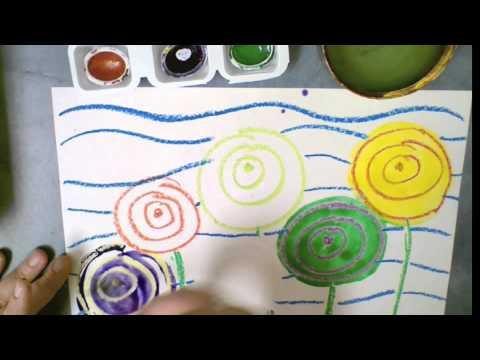Hundertwasser Flower Painting