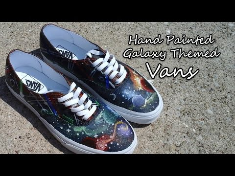 Galaxy Themed Vans | Hand Painted | DIY