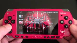 Custom Sony PSP 2000 Spider-Man Edition PlayStation Portable (MINT)