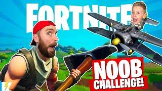 FORTNITE NOOB Challenge: Survive the CRAZY Battle Royale!   KIDCITY GAMING