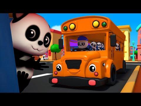 колеса на автобусе пойти кругом   Дети потешки   Baby Bao Panda   3D Rhymes   The Wheels on the Bus
