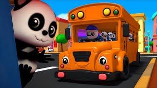 колеса на автобусе пойти кругом | Дети потешки | Baby Bao Panda | 3D Rhymes | The Wheels on the Bus