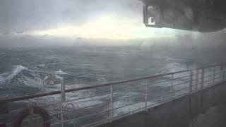 RAW FOOTAGE Storm North Atlantic, Crystal Symphony cruise ship September 2012
