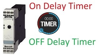 Electrical timers * on delay timer * off delay timer * star delta timer for star delta starter *