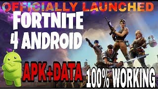 [400 MB] Download And Play Fortnite Battle Royale On Android APK+DATA