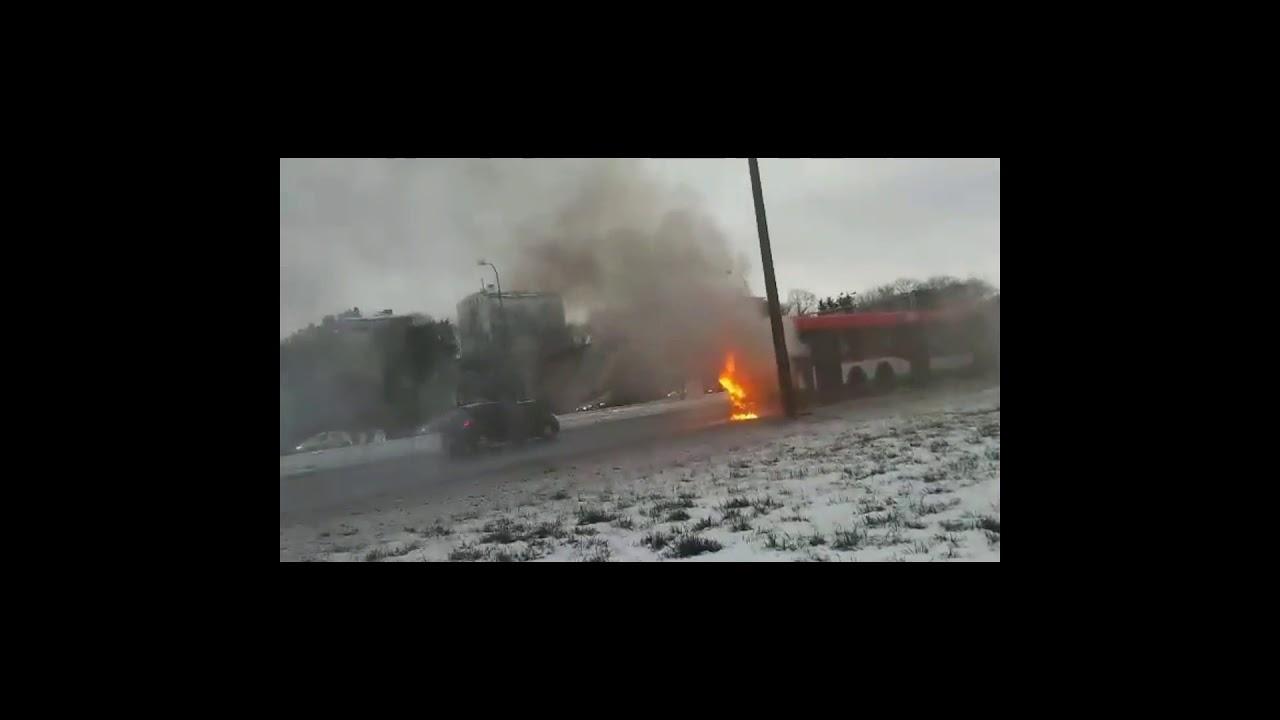 Pożar autobusu MPK w Lublinie. 19.01.2018