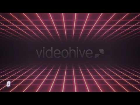 80s Retro Futurism Background Pack Motion Graphics