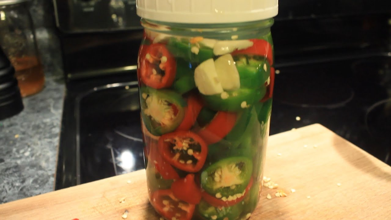 lacto fermented jalapeno peppers w garlic delicious easy youtube