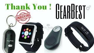 GearBest Gift Unboxing !!! GPS Locator - Smart Watch - Fitness Tracker - Key Finder !!! GearBest !!!