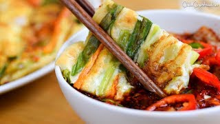 How to Make Easy Seafood Spring Onion Pancake and Dipping Sauce Recipe (해물파전/양념장)