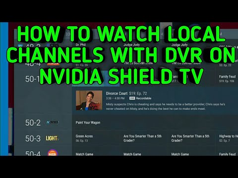 HOW TO WATCH ALL YOUR LIVE LOCAL CHANNELS WITH DVR WITH YOUR NVIDIA SHIELD TV