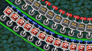 99999 КРАСНЫХ ШАРИКОВ в BAD PIGGIES !!! Энгри Бердз ! Red Ball 4 in Angry Birds Мультик про Шар дети