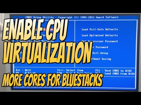 How To Enable CPU Virtualization In Your BIOS | Extra CPU Cores In Android Emulators