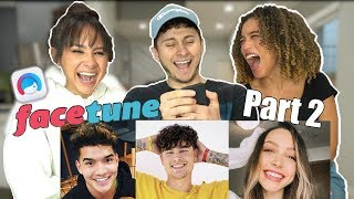FACETUNING YOUTUBERS PART 2 (ft. Franny Arrieta &amp Nezza)