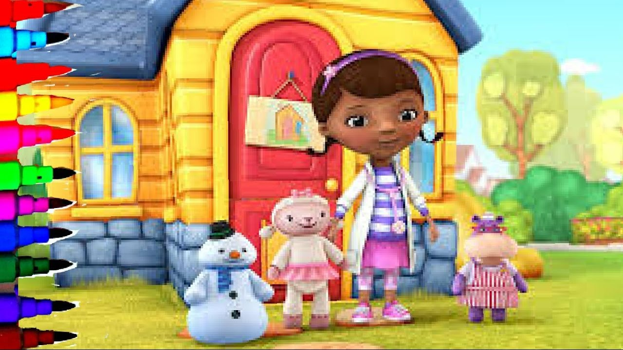 Disney Junior Doc McStuffins Coloring Book Pages For Kids Pet Vet Fun Art Learning Brilliant Color