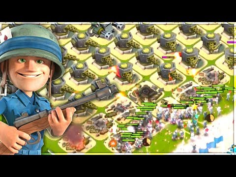 Boom Beach Base Builder Rifleman Challenge! Hammerman NPC Blackguard Gameplay!