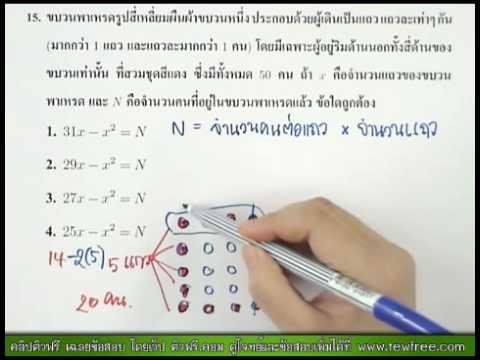 เฉลย Math O-NET '53 ข้อ 15/40 [ติวฟรี.คอม]