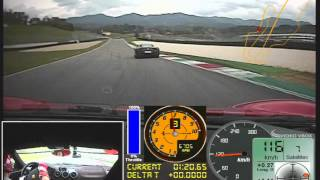 Ferrari 430 Scuderia vs. Ferrari 458 Italia on the Mugello Circuit 2012