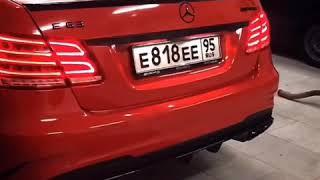 Mercedes Benz E212 63 AMG Очень грозный  выхлоп