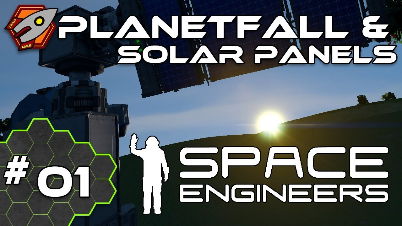 Planetfall Amp Solar Panels Space Engineers 01 Youtube