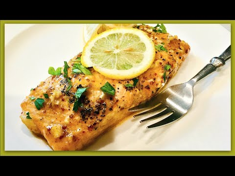 Easy HONEY MUSTARD SALMON RECIPE | ThymeWithApril