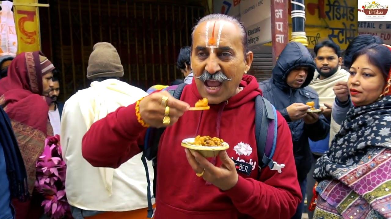 15/- में 4 तड़का कचोरी चना  Famous Roadside Chana Kachori | Varanasi Street Food | Indian Food