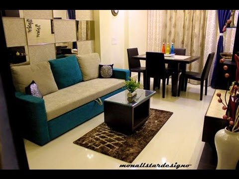 Interior design living cum dining room completed project diarie 3 monallstardesigno youtube - Interiors design of small drowingroom ...