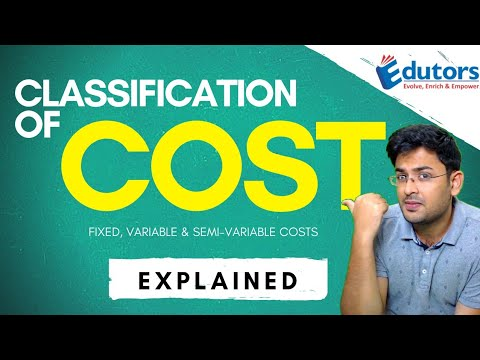 Classification Of Costs | Fixed Cost, Variable Cost & Semi Variable Cost | Cost Accounting (2020)