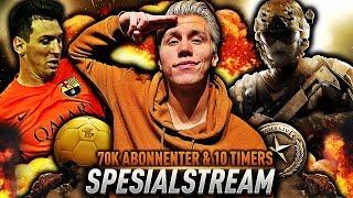 10 TIMERS LIVESTREAM!! 🔥 70 000 ABONNENTER SPESIAL!!